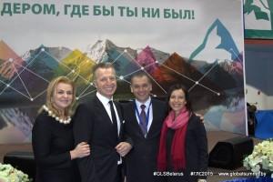 Юрий карманович с супругой Ириной, Леонид Вороненко с супругой Ингой